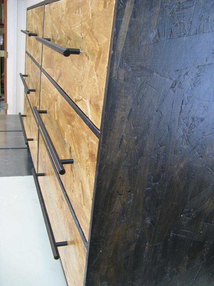 double osb zen dresser black stain. $399.00, via Etsy.