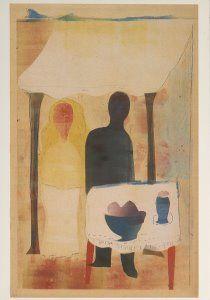 Hendrik Nicolaas Werkman -  'Bruidspaar' -  A1863 - Postcard