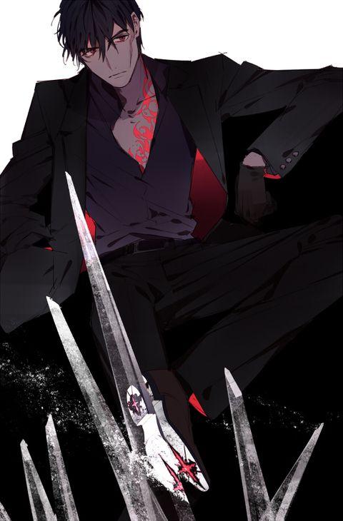 黒と赤で印象的な血界戦線のスティーブン