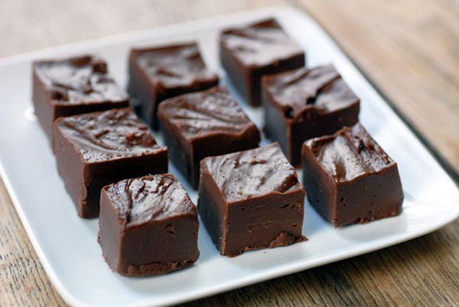 Suikervrije 5 minuten kokos-chocolade fudge -