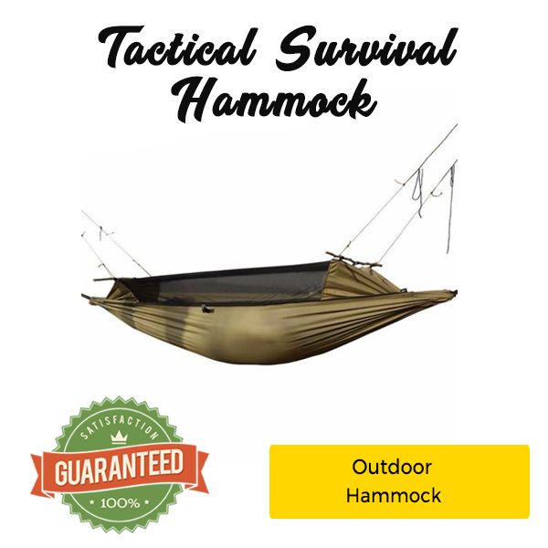Tactical Survival Hammock – Water, Tear, and Bug Resistant!