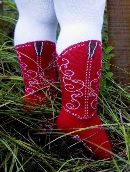 ITTY BITTY RED COWBOY BOOT TIGHTS BOOTZIES FOR YOUR BABY COWGIRL SZ 0-6 MOS #Bootzies #Tights
