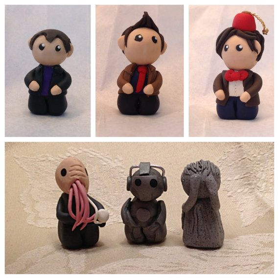 Polymer Clay Doctor Who Figurines Doctor Who by KatPacDesigns