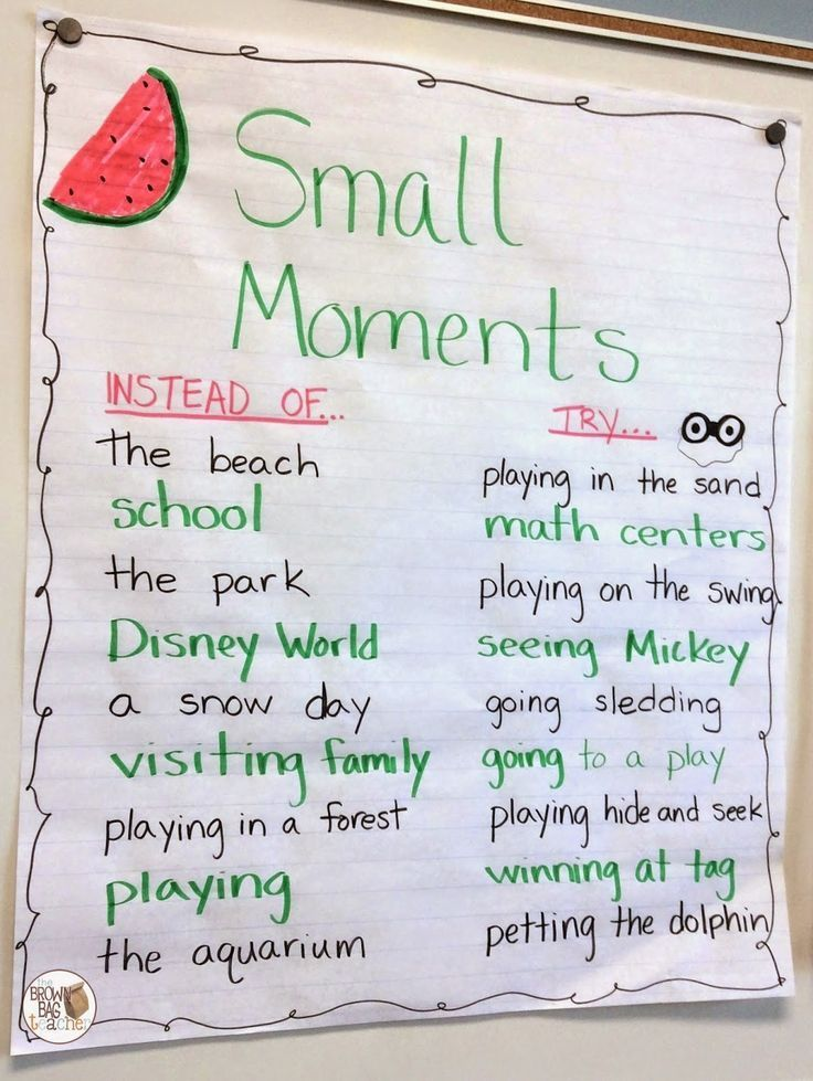 What are some examples of small moments you could ask middle-schoolers to share…
