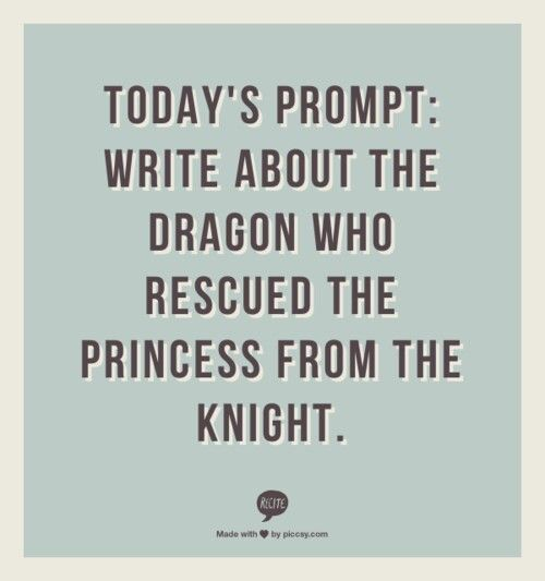 How about the dragon that saves the prince from the princess?