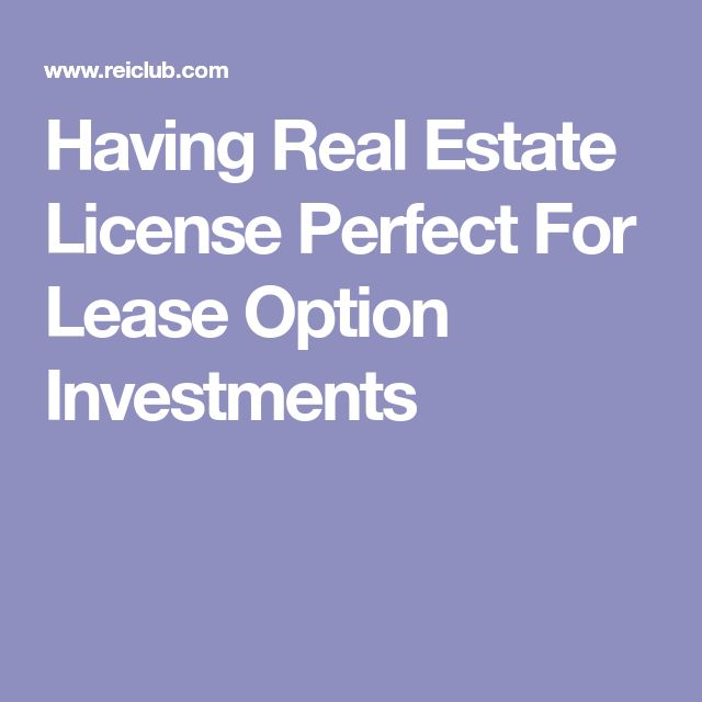Best Real Estate Investing Lease Options Images On