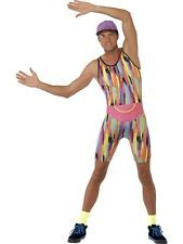 Adult Funny 90s TV Mr Motivator Energizer Mens Fancy Dress Costume Party Outfit