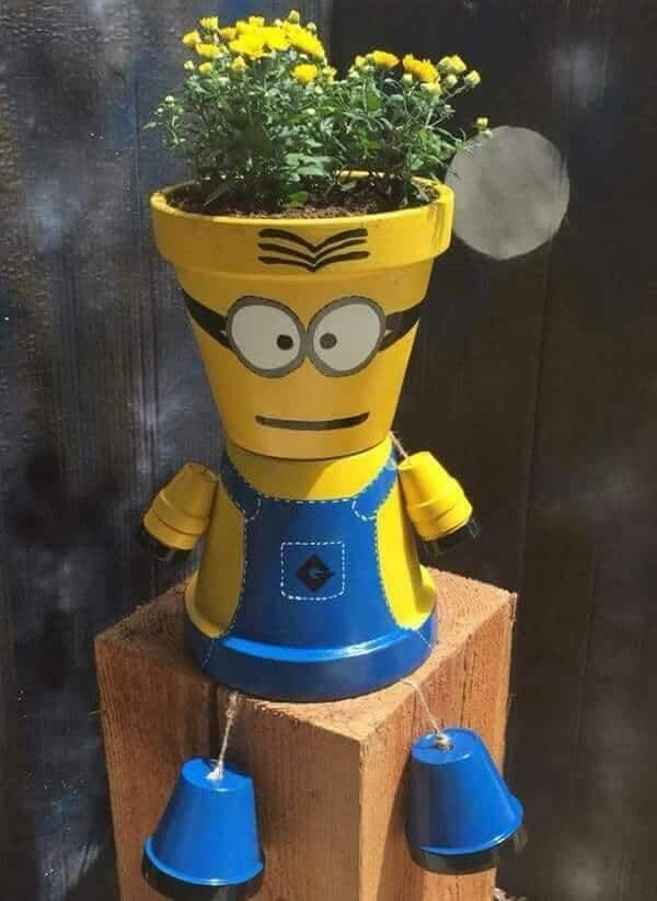 Adorable Minion Flower Pot Found On Pinterest And Other Cute