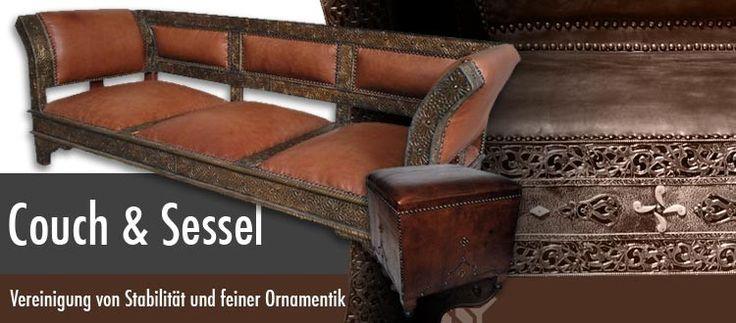 Orientalische Sitzecke Einrichten : Eine orientalische Couch aus edlem Zedernholz, marokkanische Sofas mit