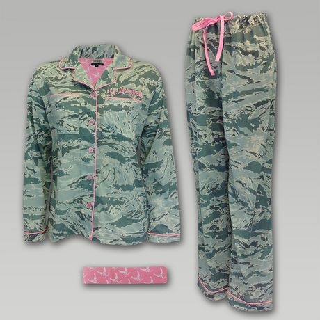 Air Force Women's Camo Pink Pajamas   ArmedForcesGear.com