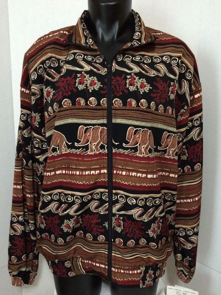 Erin London Womens Brown Autumn Aztec Jacket Zip Up Blazer Coat NWT Size M #ErinLondon #Blazer