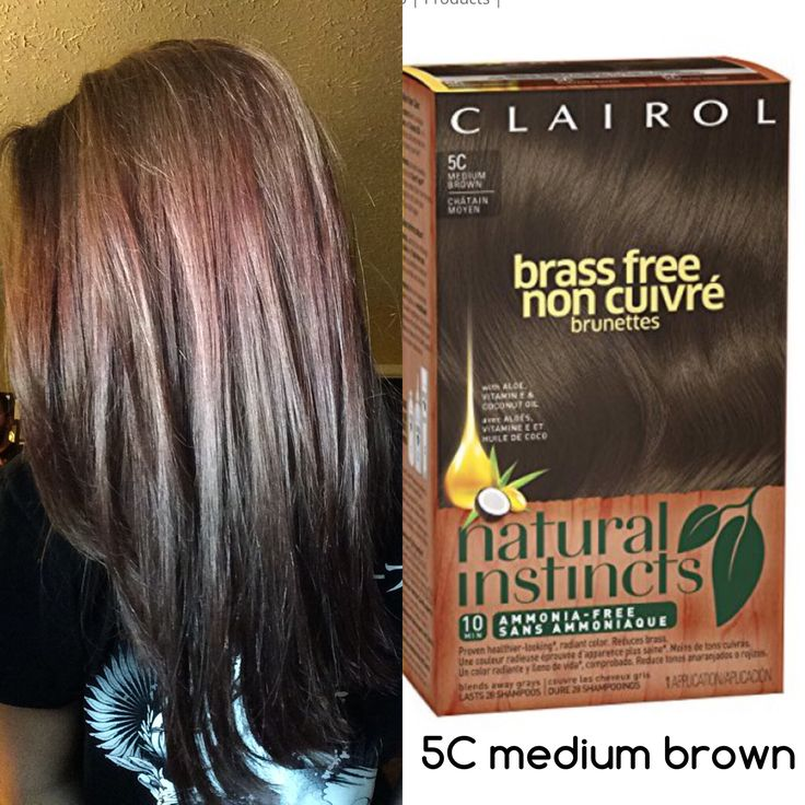 Clairol Natural Instincts 5C medium brown hair color (drugstore)