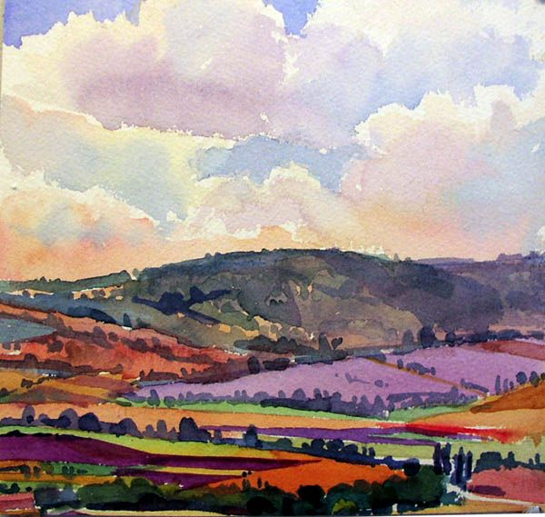 Clouds Over Lavender - Susan Abbott