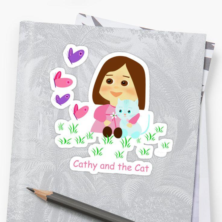 Cathy and the Cat son personajes de ficción especialmente creados por Laura Greco para llevar una sonrisa a niños, jóvenes y adultos que guardan ternura en su corazón. Derechos Reservados  • Also buy this artwork on stickers, apparel, phone cases y more.