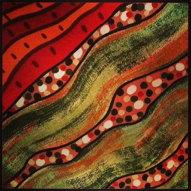 Aboriginal art silk scarf detail
