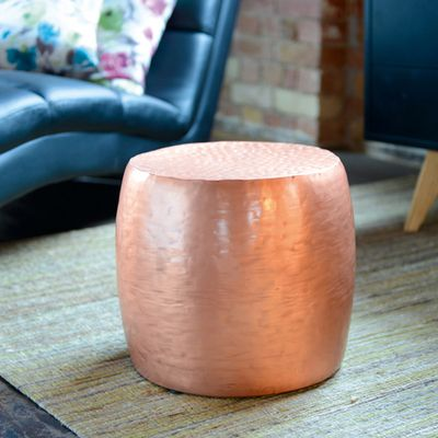 Click to zoom - Round copper side table
