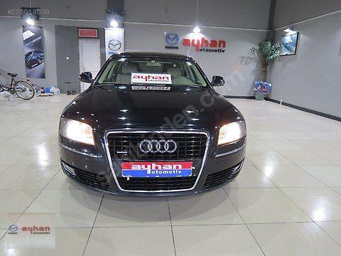Audi A8 3.0 TDI Quattro Long 2008 Model 139.990 TL Galeriden satılık ikinci el Siyah renk