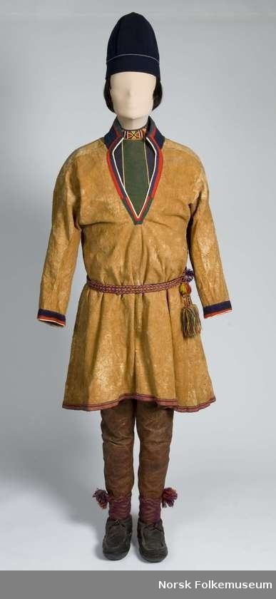 Nordic Sami clothing from Grane, Nordland in Norway.