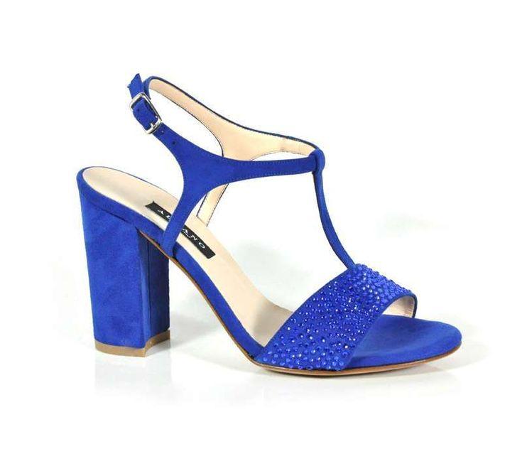 Collezione scarpe da cerimonia Albano Primavera Estate 2016 - Sandali gioiello blu Albano