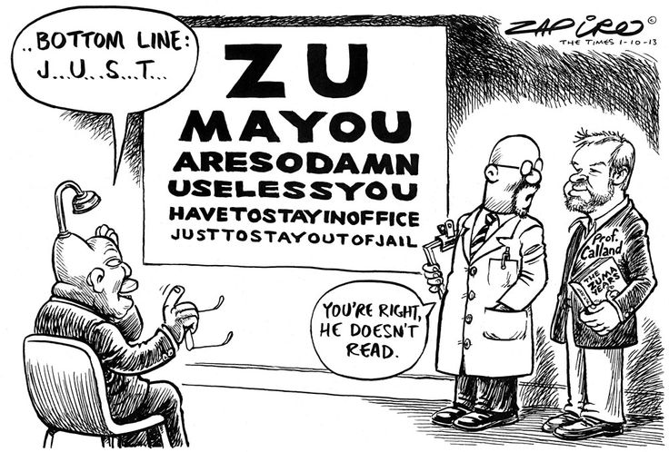 Zapiro: Calland and Zuma's reading abilities