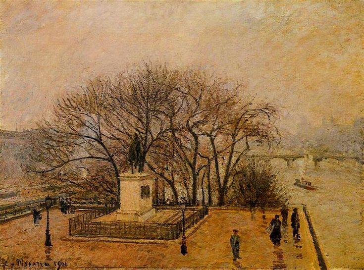 The+Pont+Neuf,+Statue+of+Henri+IV,+Mist,+1901+-+Camille+Pissarro