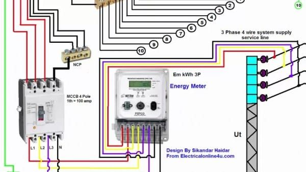 How To Wire 3 Phase Electrical Wiring Diagram Electrical Wiring Electrical Circuit Diagram