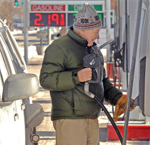 Average gas prices dropped another 22 cents in Bismarck earlier this month and it's expected to fall further.