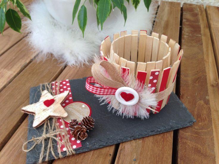 marché de noel école maternelle | Photophore pinces à linge | Marché de Noël | Pinterest