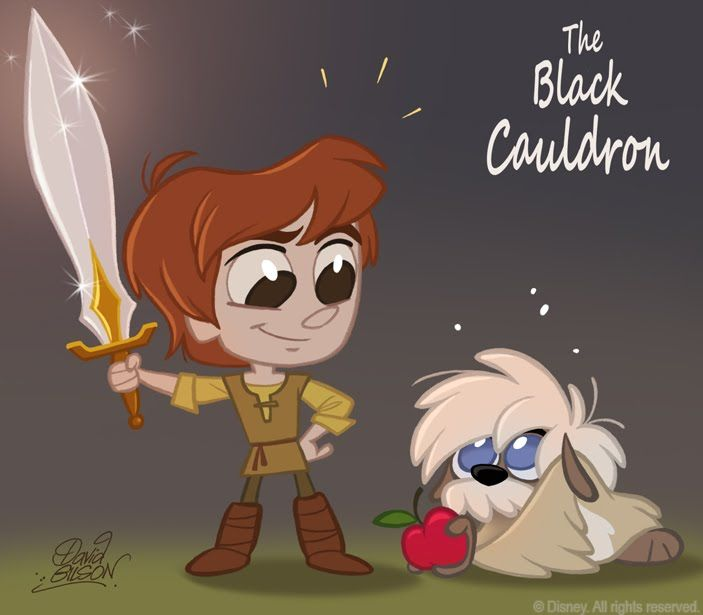 50 Chibis Disney : Taram (The Black Cauldron) by David Gilson