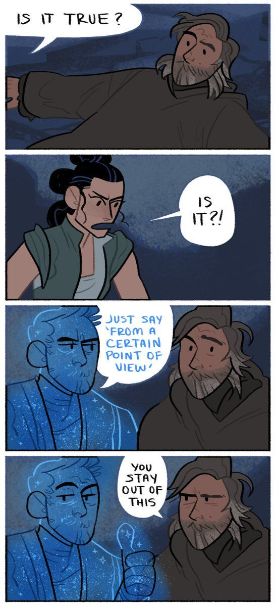 Ghost Obi-Wan, he lives on to mess with generations of Skywalker s