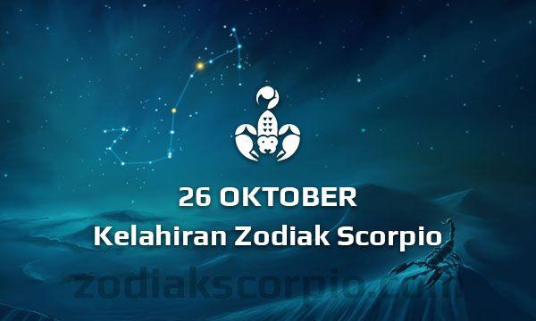 Zodiak Scorpio Lahir Tanggal 26 Oktober