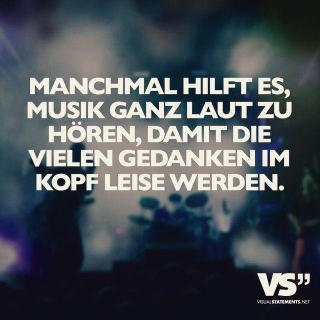Musik. ganz laut! Gedanken werden leiser... #VisualStatement