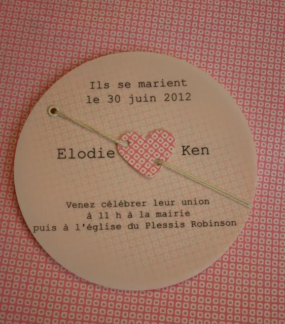 """Fleur de pommier dans son atelier: Faire part de mariage """"bulle d'amour"""""""