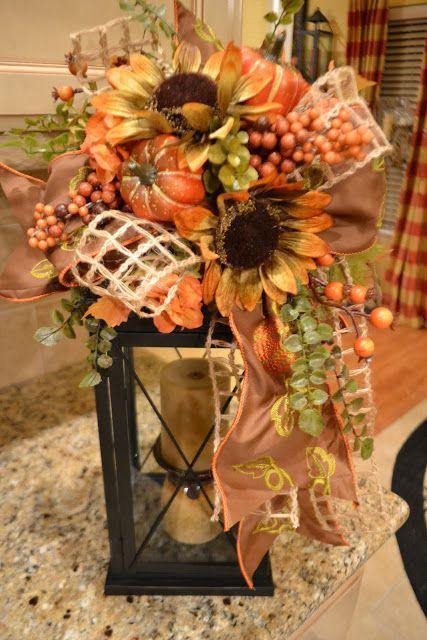 lanterns, fall, centerpiece