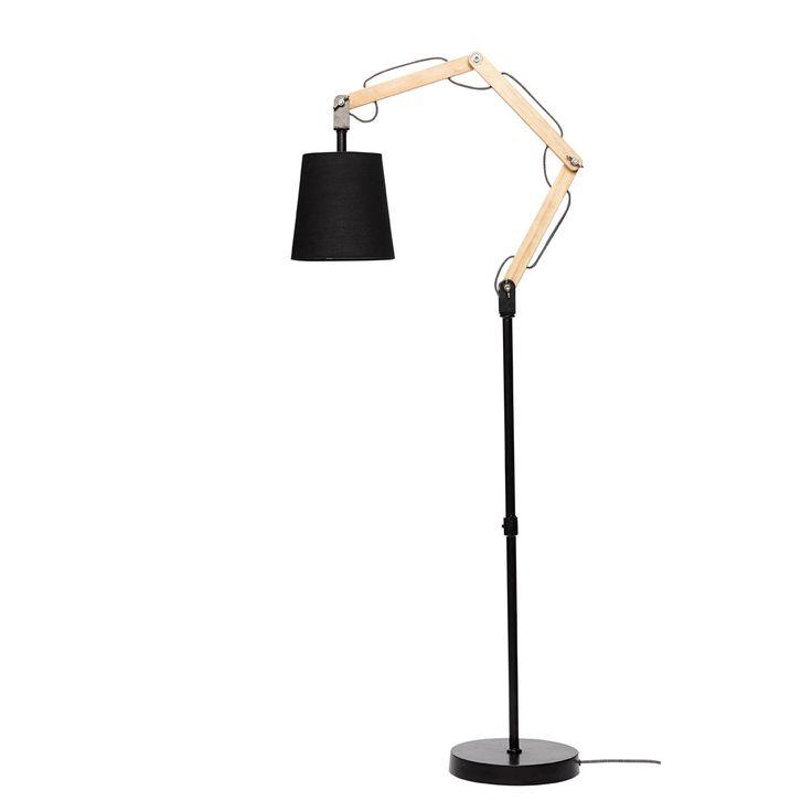 Stehlampe mit Stoffschirm von der Firma Hübsch Interior  D=23 cm H=150cm, Schirm: D=20x20cm, 40 watt 195€