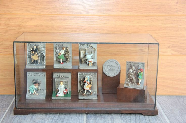 Set of 7 Olszewski Goebel Pewter Norman Rockwell Collection 1988 w/ Display USA | eBay