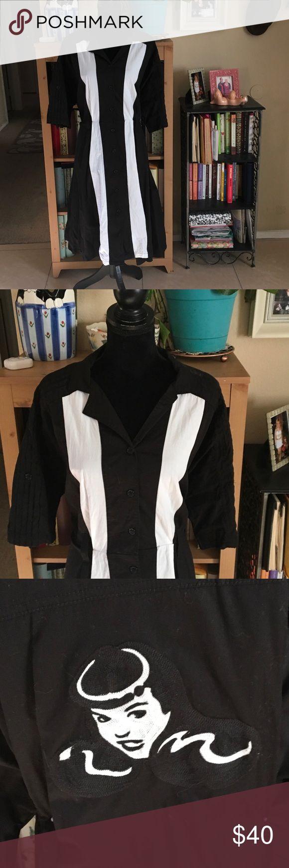 Tatyana Bettie Page bowler dress 👗💋💄 Rockabilly Rockabilly dream!  Rockin' Bettie Page bowling dress from Tatyana.  Size 4XL, which fits more like a 2XL.  In superb condition. Tatyana Dresses Midi