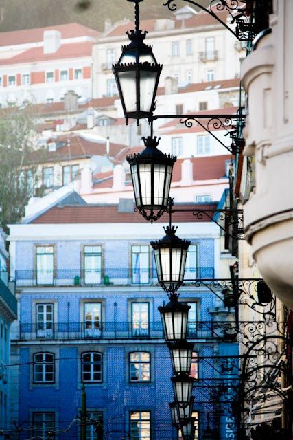Early Morning Colors in Lisbon, Portugal - by Rebecca Plotnick
