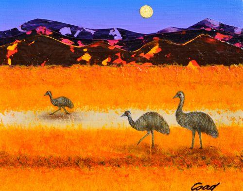 peter coad art.com.au Emu Study