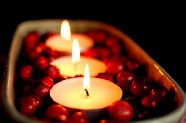 cranberry centerpieces