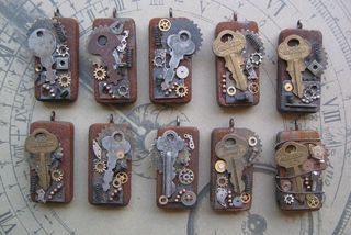 Steampunk Domino's by Kathy, so cool!