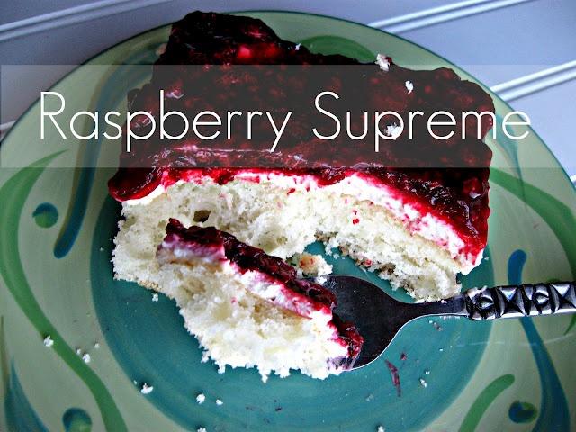 Raspberry Supreme ~ Recipe (this looks so delicious!!!)Raspberries Supreme, Untrendi Life, Food Sweets, Life Food, My Birthday, Yummy Side, Wedding Cake, Supreme Cake, Sweets Tooth