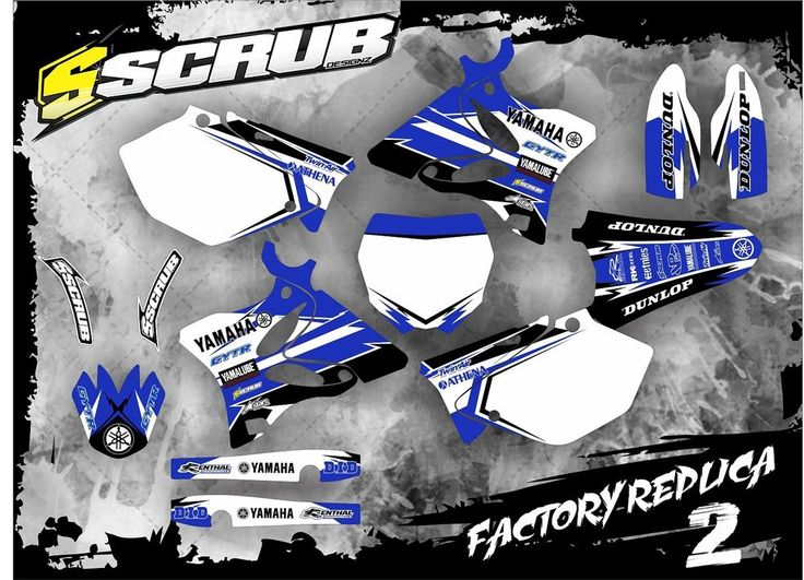 SCRUB Yamaha graphics decals kit YZ 125-250 2006-2014 stickers MX '06-'14 in Vehicle Parts & Accessories, Motorcycle Accessories, Stickers, Emblems & Flags | eBay!