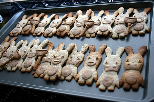 Raving Rabbids Cookies platter by AnnaTheRed, via Flickr