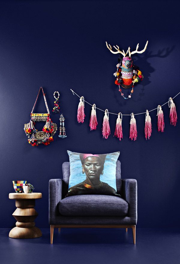 One of Dulux' fashion-inspired rooms, styled by Dulux stylist Bree Leech, inspired by Camilla's current collection