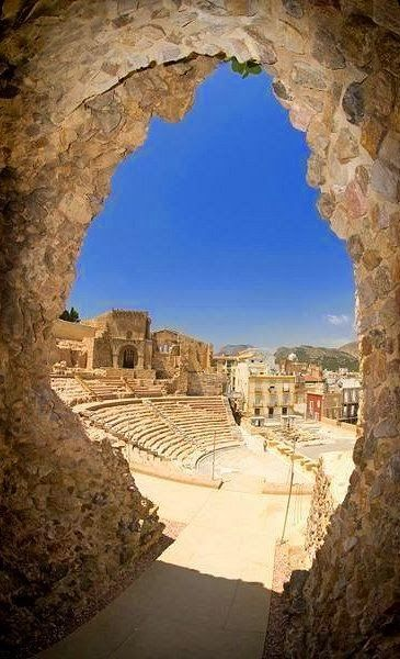 Ancient Roman Theatre in Cartagena, Spain