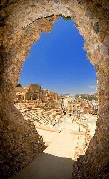 Ancient Roman Theatre in Cartagena, Spain