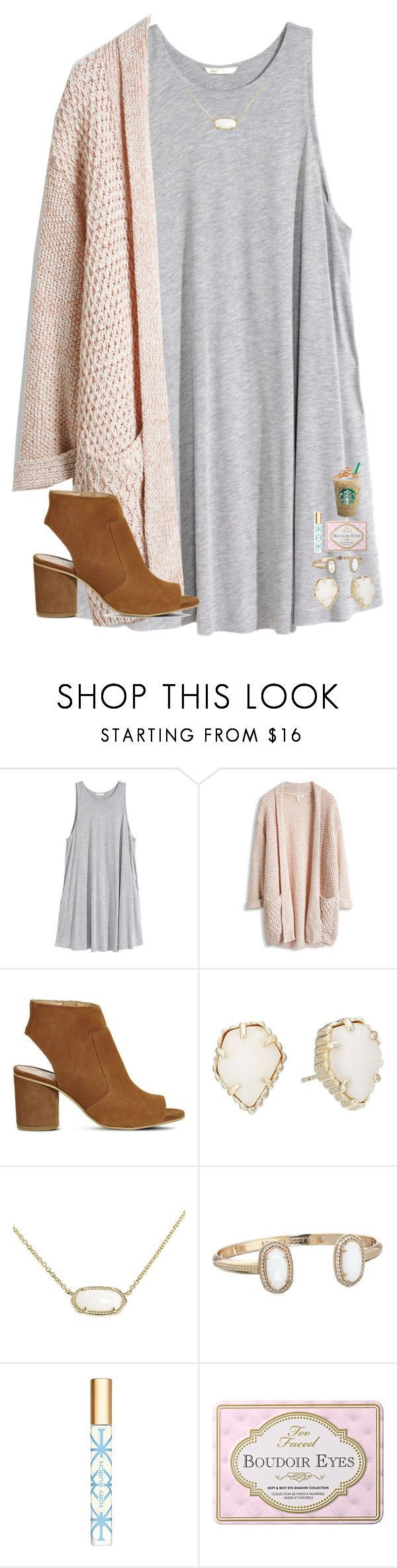 """""""Winter Break Friday and Monday ❄️❄️❄️❄️❄️"""" by mae343 ❤ liked on Polyvore featuring H&M, Office, Kendra Scott and Tory Burch"""