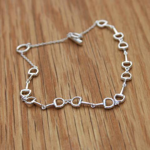 Six Snaffle Silver Bracelet