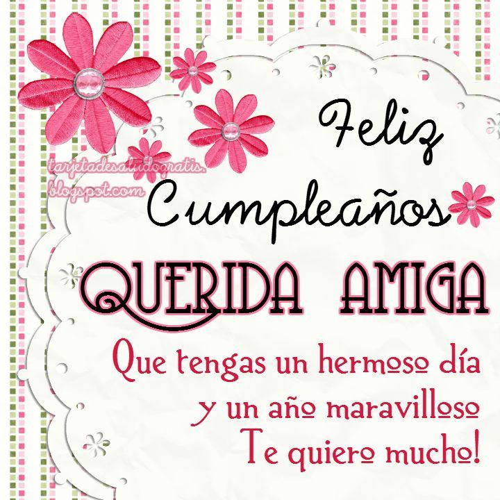 Tartetas de cumpleaños personalizadas para AMIGA, NUERA, SUEGRA, SOBRINA | Tarjetas de saludo gratis